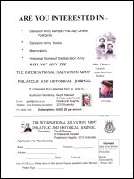 International Salvation Army Philatelic and Historical Journal